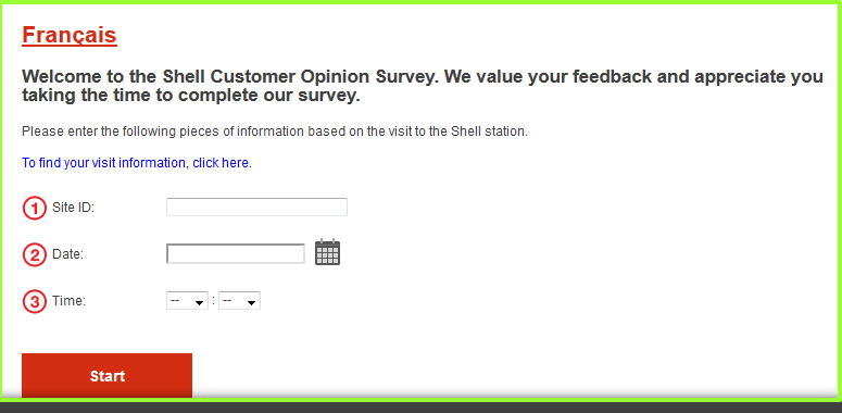 tellshell shell com - Shell Canada Customer Opinion Survey