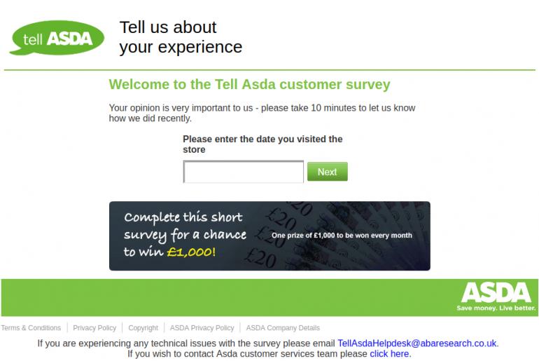 Tell-ASDA-survey