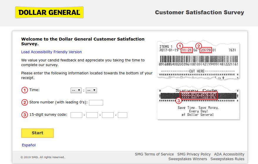 Dollar General Customer Satisfaction Survey