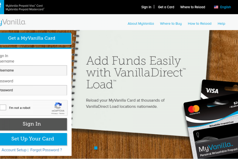 MyVanilla Reloadable Prepaid Card Logo