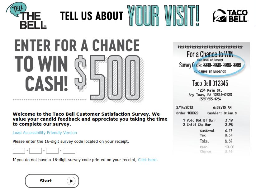 Taco Bell Customer Satisfaction Survey