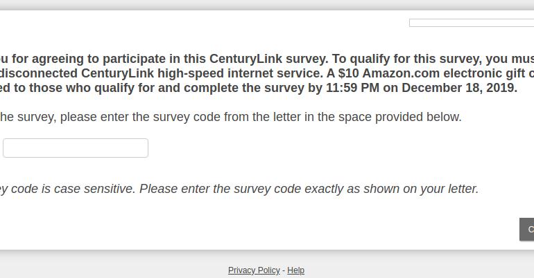 centurylink survey