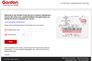 Gordon Food Service Customer Satisfaction Survey