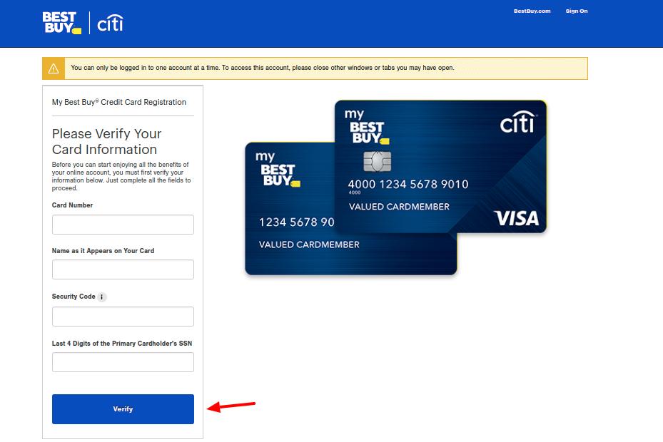 Best Buy Credit Card Actvate