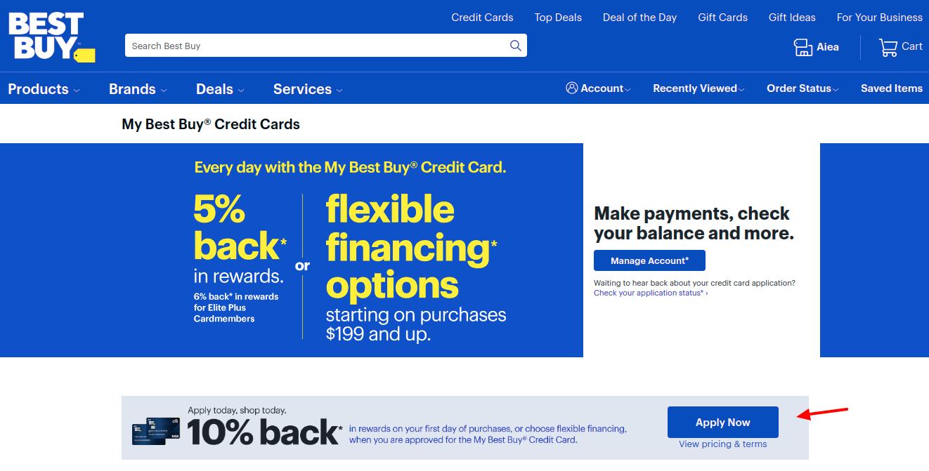 Best Buy Credit Card Apply