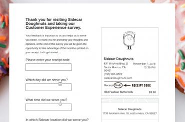 Sidecar Doughnuts Survey