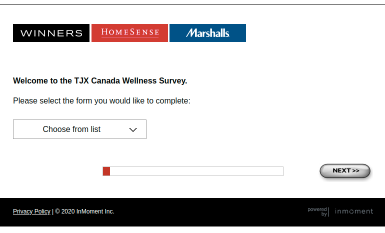 TJX Canada Wellness Survey