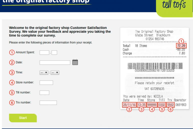 Tell the original factory shop Survey