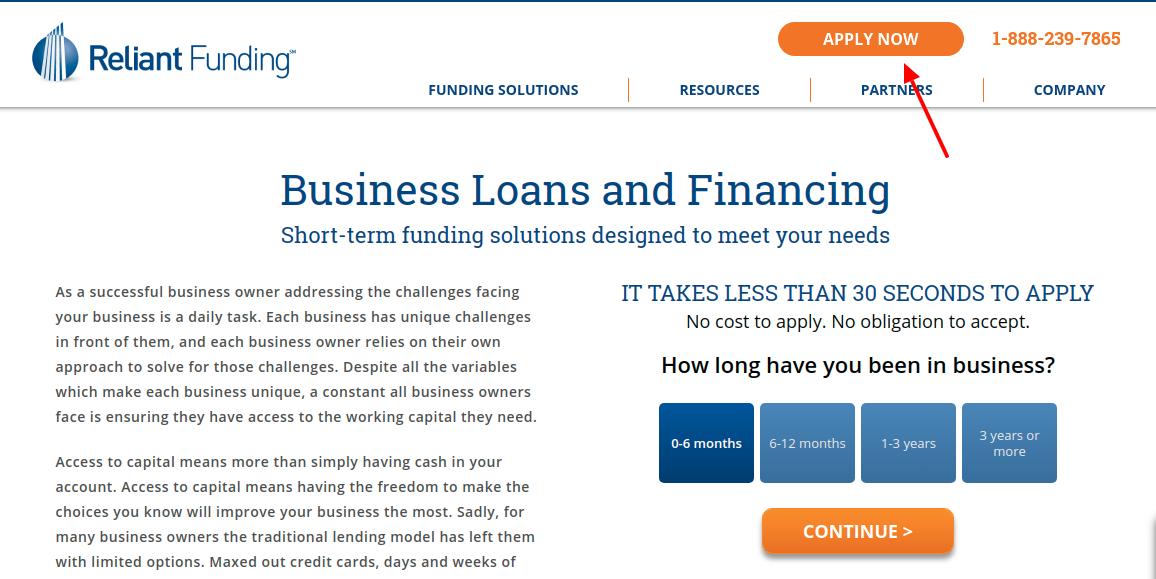 Reliant funding Apply