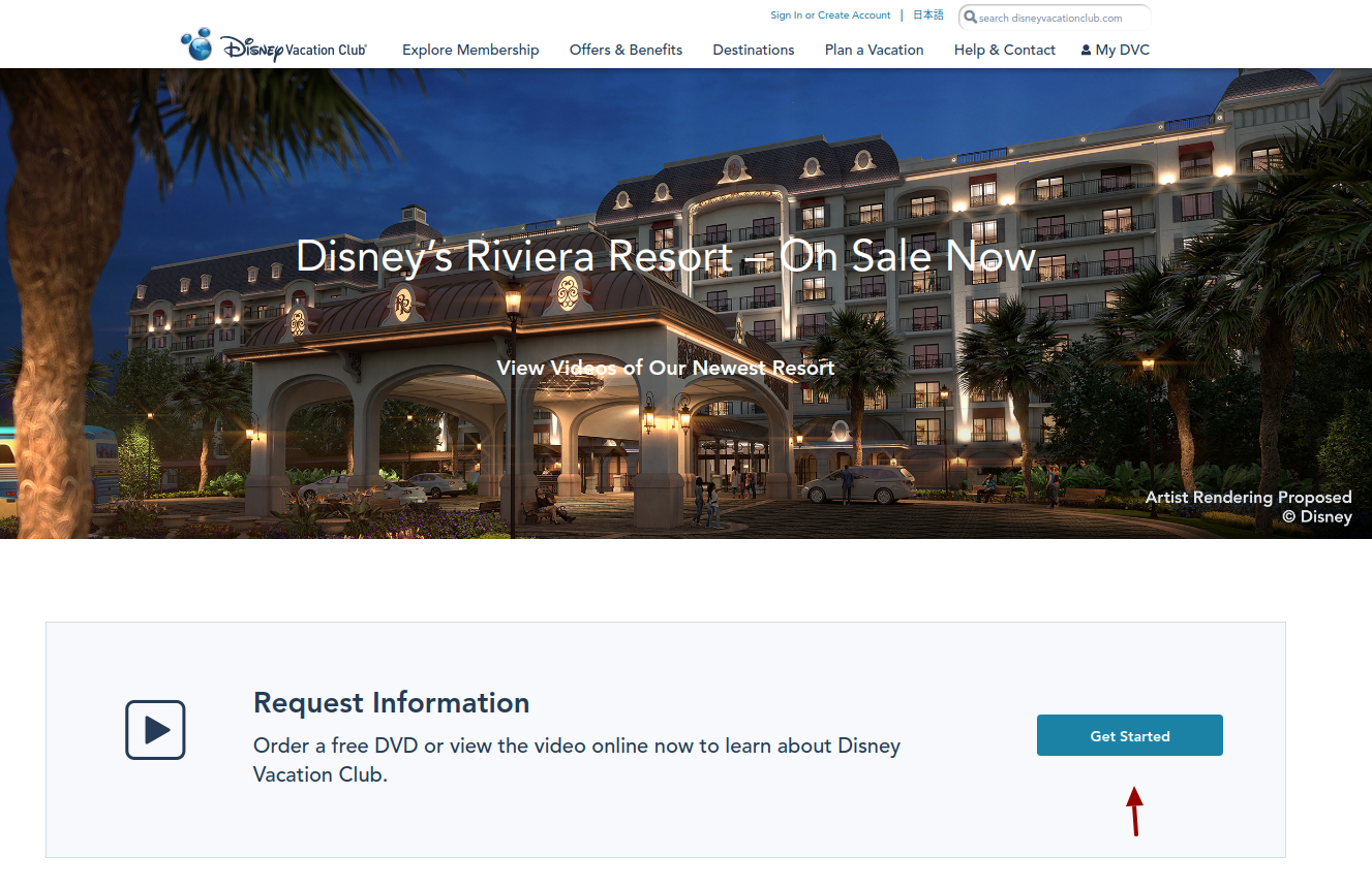 Disney Vacation Club Get Started
