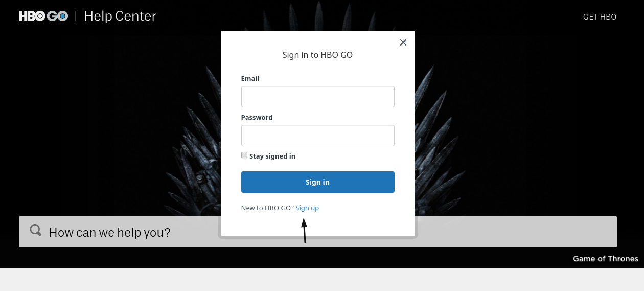 HBO Sign Up