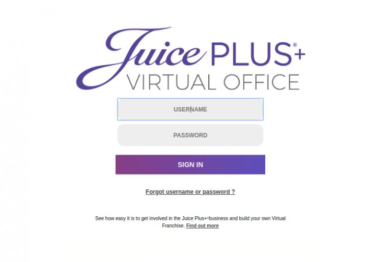Juice Plus Virtual Office Login