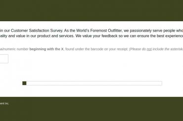 Cabela Outfitter Survey