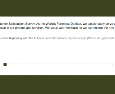 Cabela Outfitter Survey