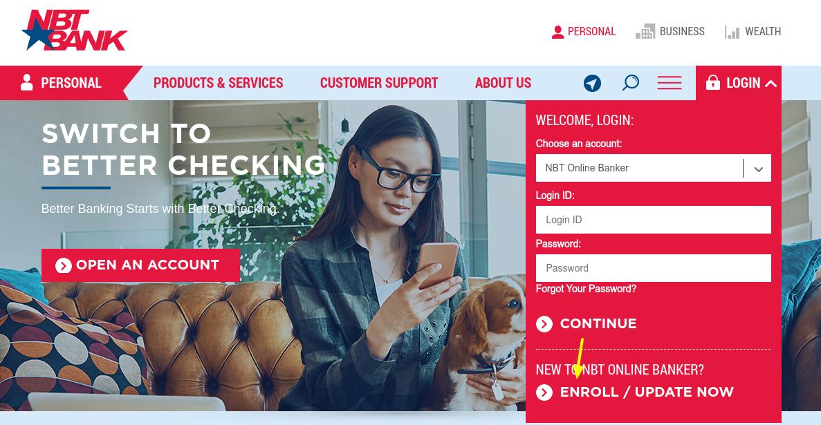 Enroll NBT Online Banker