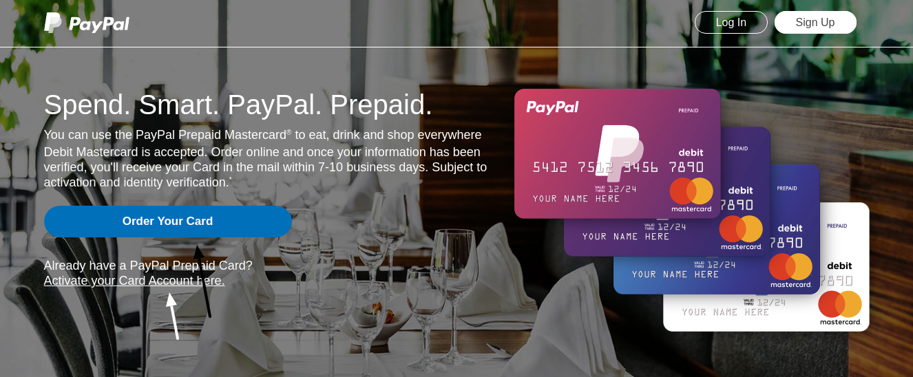 PayPal Prepaid Card Activate