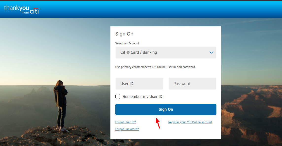 Citi ThankYou Rewards Login