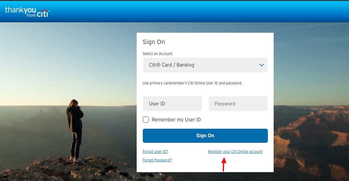 Citi ThankYou Rewards Register