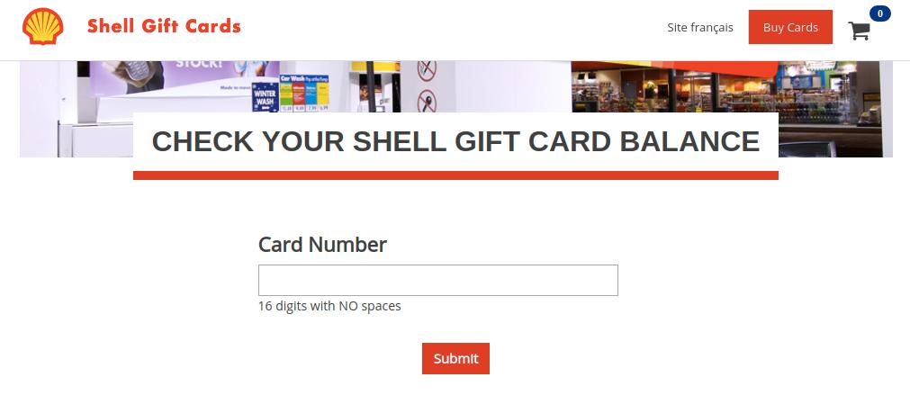 Shell Gift Card Balance Check