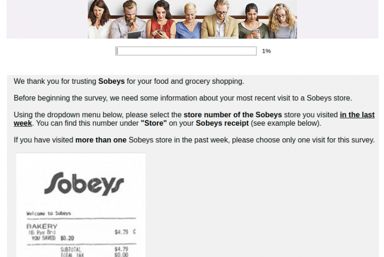 Sobeys Grocery Survey
