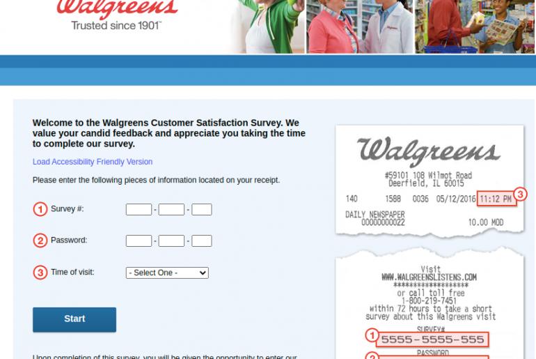 Walgreens Customer Survey