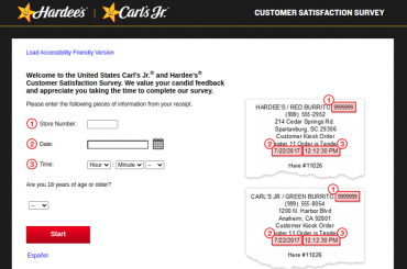 Carl's Jr. and Hardee's Customer Satisfaction Survey