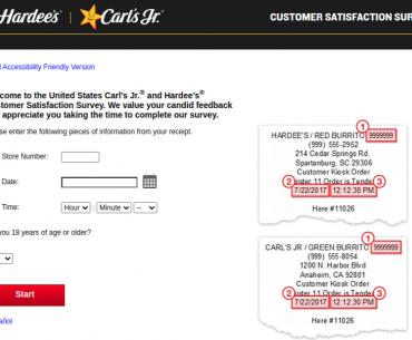 Carl's Jr. and Hardee's Customer Satisfaction Survey