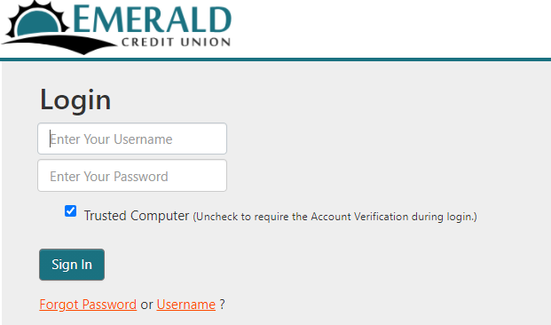 emerald credit union login