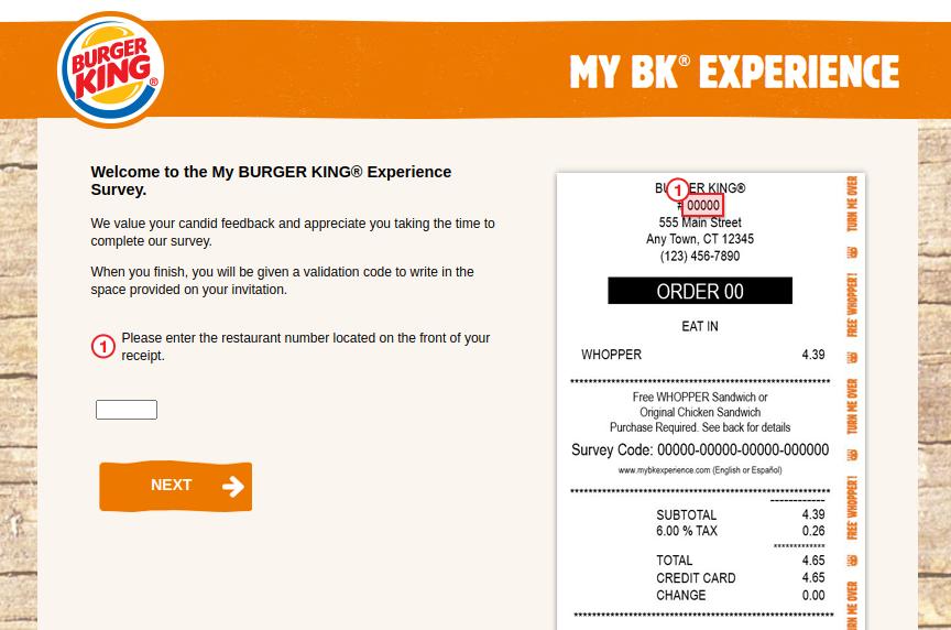My BK Experience Survey