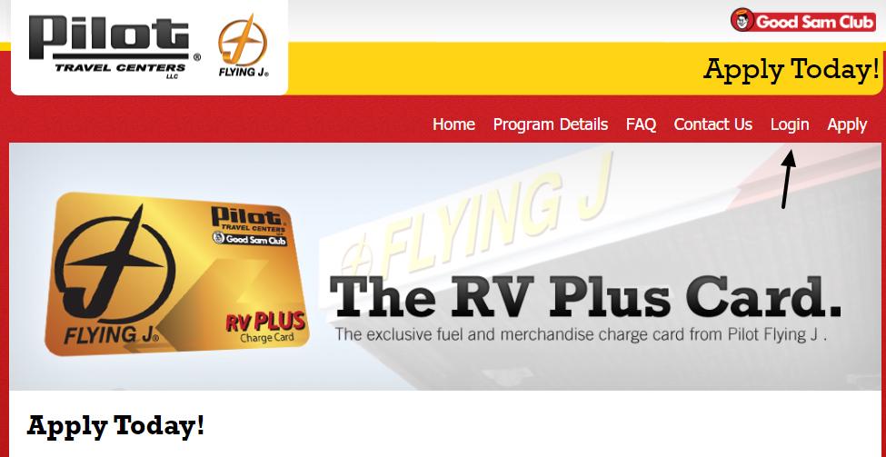 Pilot RV Plus Card Login