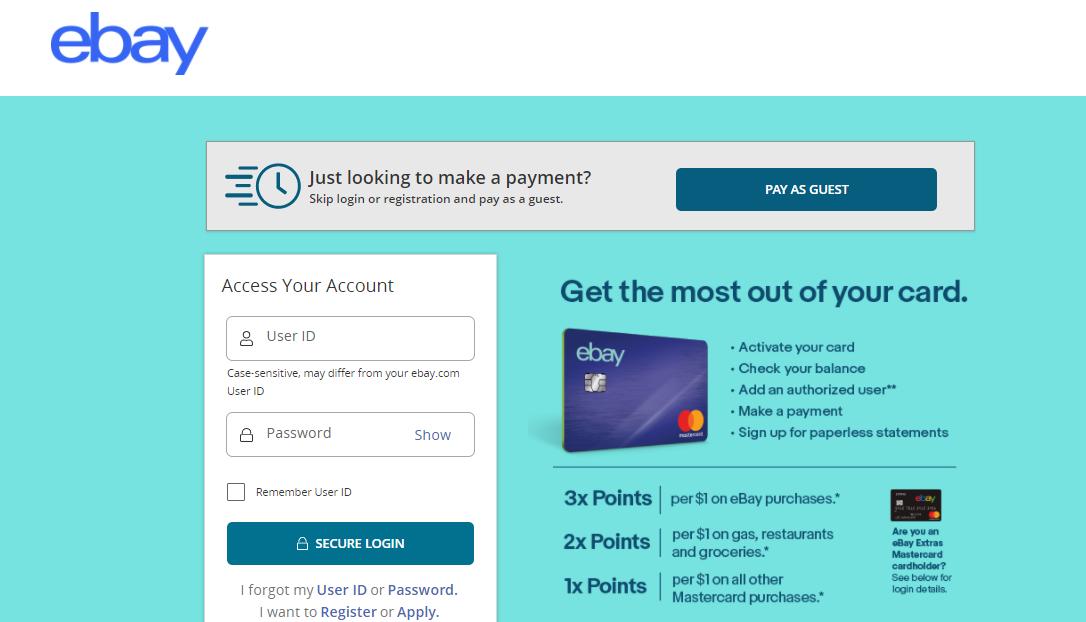 EBAYCB Credit Card Login