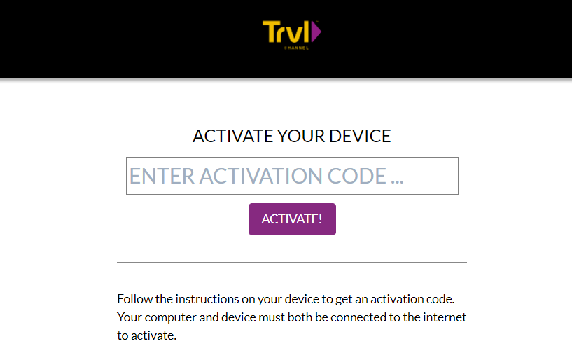 Travel Channel GO Activate