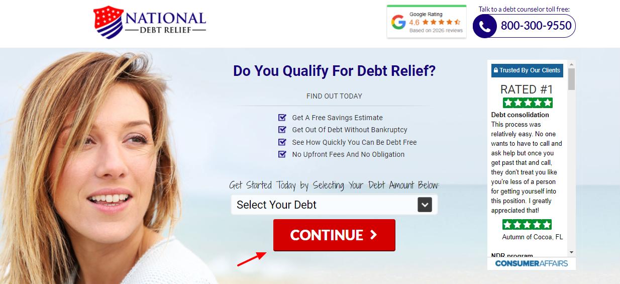 national debt relief apply